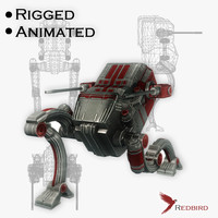 sci-fi robot animations 3d 3ds
