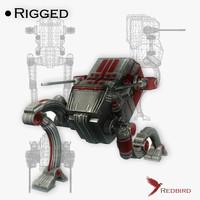 maya military robot rigged