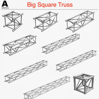 3d model big square truss 007