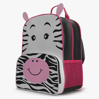 3d max kid backpack zebra