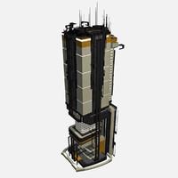 - sci fi building 3d max