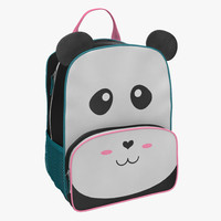 3d kid backpack panda