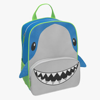 3d kid backpack shark model