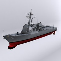 3d model arleigh burke class destroyers