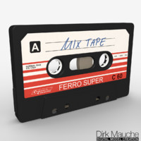 analog music cassette 3d obj