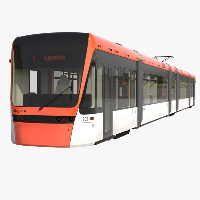 Light Rail Train Bybanen Simple Interior 3d model 01.jpg
