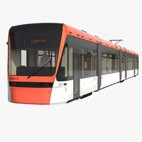 3ds max light rail train bybanen
