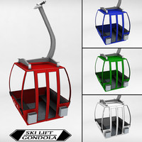 3d model ski lift gondola cable car