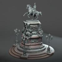 3d klodt nicholas 1 statue model