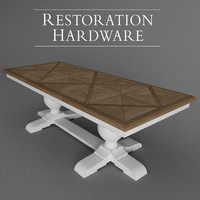 3d dining table x model