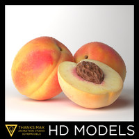 3d photorealistic peach realistic real