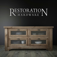 salvaged wood kitchen island 3d model
