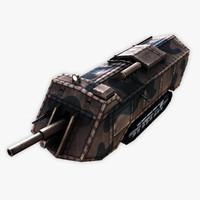3d saint chamond tank model