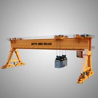 3dsmax gantry crane railway