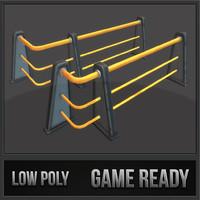 railing set 01 3d 3ds