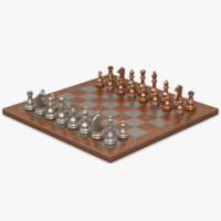 copper chessboard 3d model