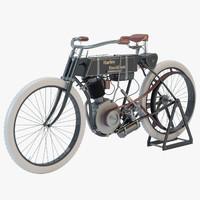 harley davidson 1905 motorcycle motor 3d model