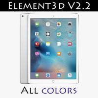 ipad pro pencil element3d 3d model