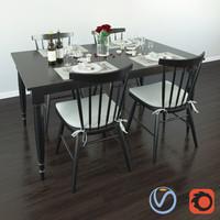 table serving 3d model