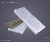 clean dirty mattresses 3d obj