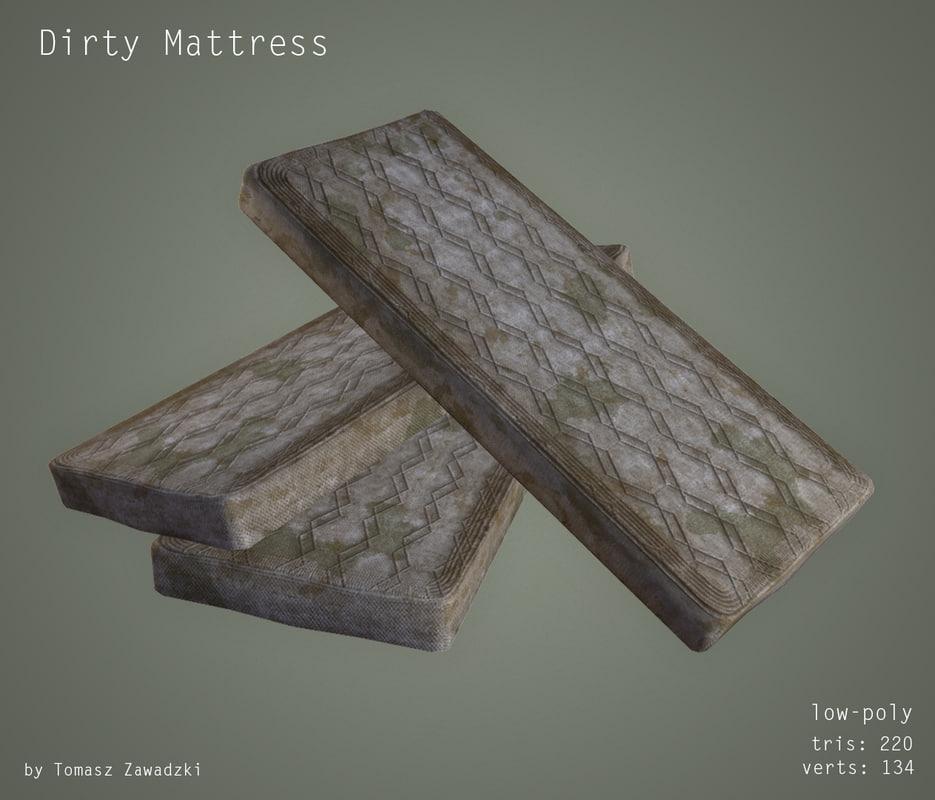 dirty mattress 3d obj