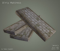 dirty mattress 3d obj