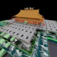 chinese forbidden city obj