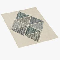 boconcept midori rug 3d model