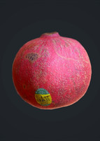 photogrammetry scan pomegranate 3d obj