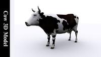 3d 3ds cow