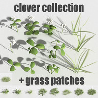 clover gras patches 3d obj
