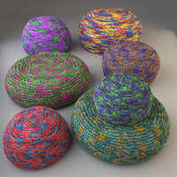 maya knitted fabric pouf