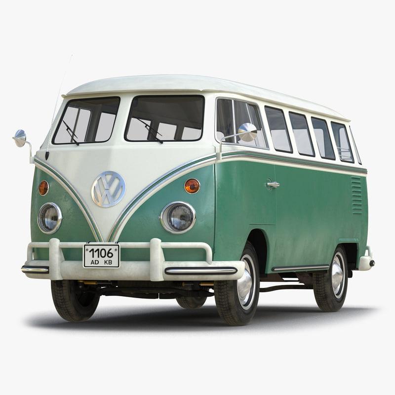 3d model of Volkswagen Type 2 Green Rigged 01.jpg