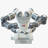 3d abb yumi industrial robot model