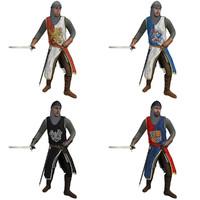 rigged medieval knight s helmet 3d max
