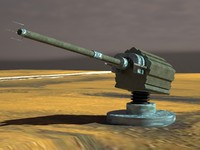 3d model of artillery cannon