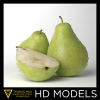 photorealistic pears realistic 3d obj