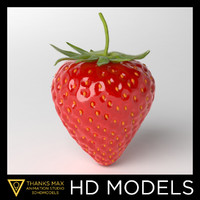 photorealistic strawberry obj
