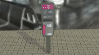 3d pay phone model
