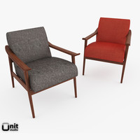 Mid-Century Show Wood Upholstered Chair by West Elm