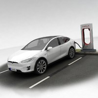 3d model of tesla x supercharger