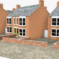3d model of town houses