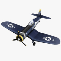 vought f4u corsair 3d 3ds