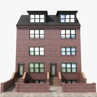 3d townhouse brick