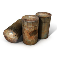 oil barrel rusty 3d c4d