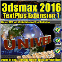 056 3ds max 2016 TextPlus vol 56 cd front