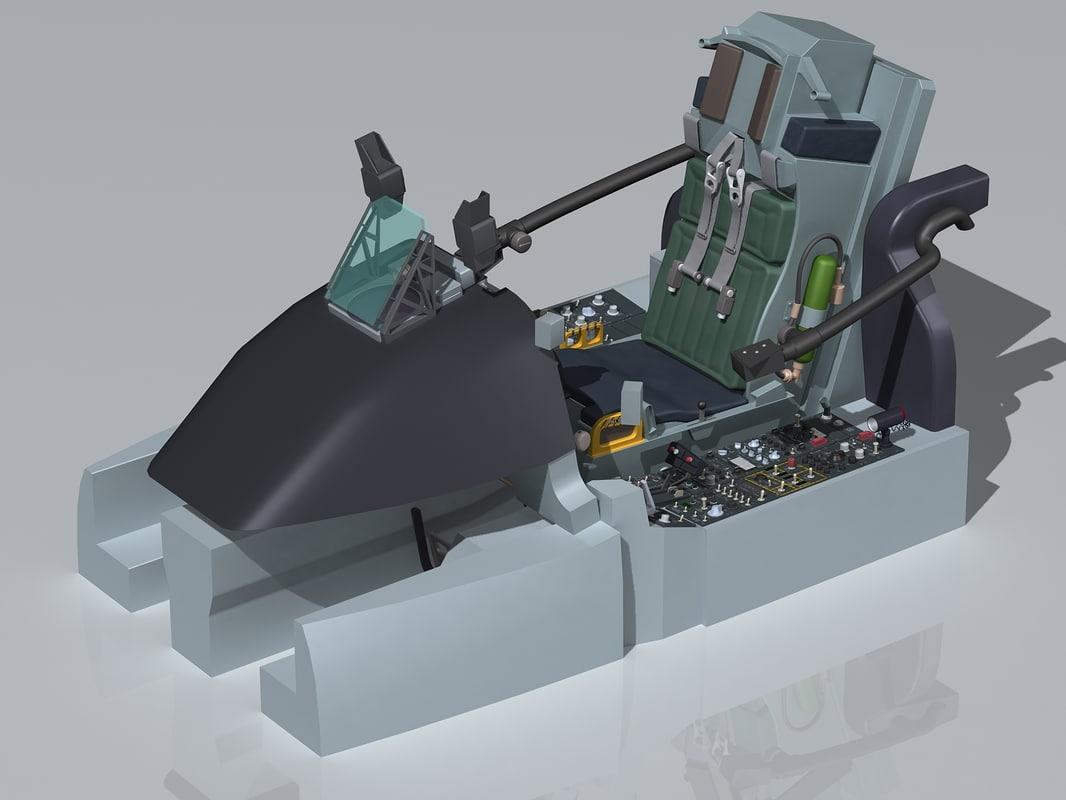 3ds max a 10 thunderbolt cockpit