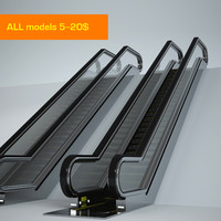 escalator 3d max