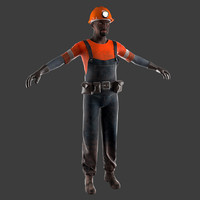 3ds max miner worker helmet