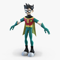 3d robin cartoon character model